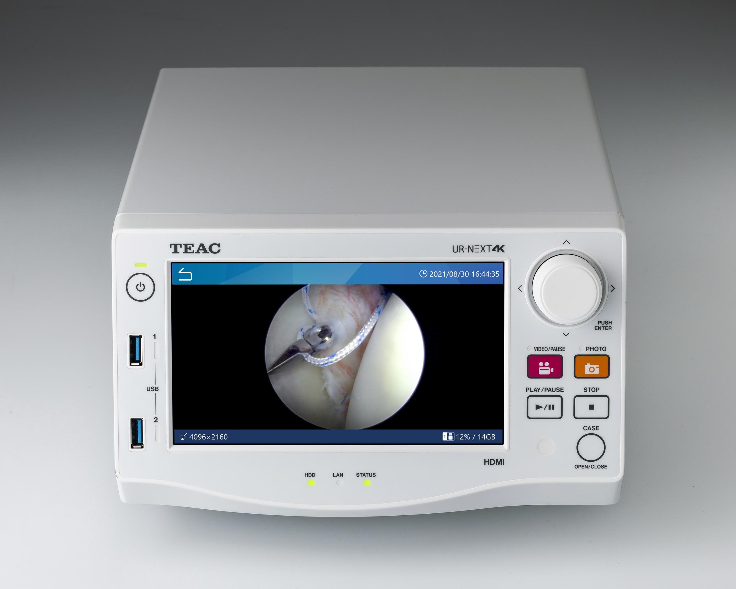 ティアック/内視鏡、手術用顕微鏡の4K映像を記録する4Kメディカルビデオレコーダー『UR-NEXT 4K』を発売